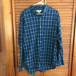 J.Crew Blue Plaid Button Down